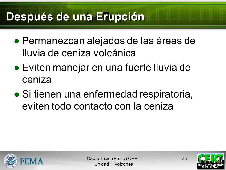 Después de una Erupción