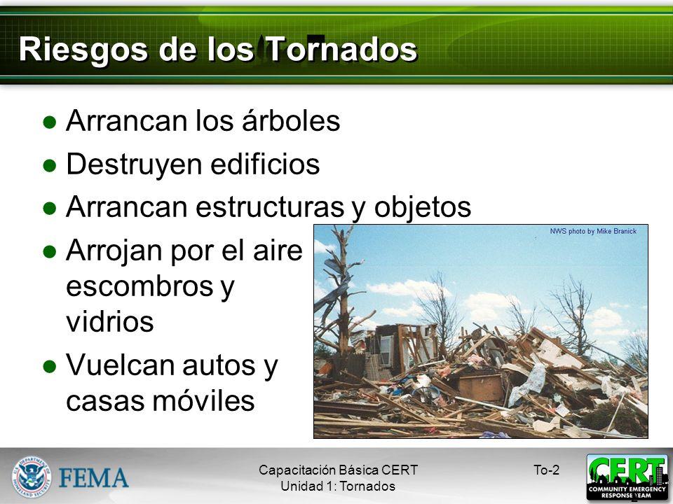 Riesgos de los Tornados