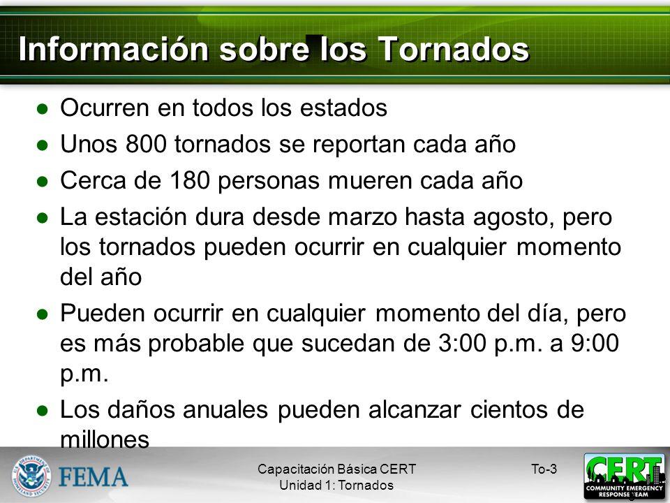 Información sobre los Tornados