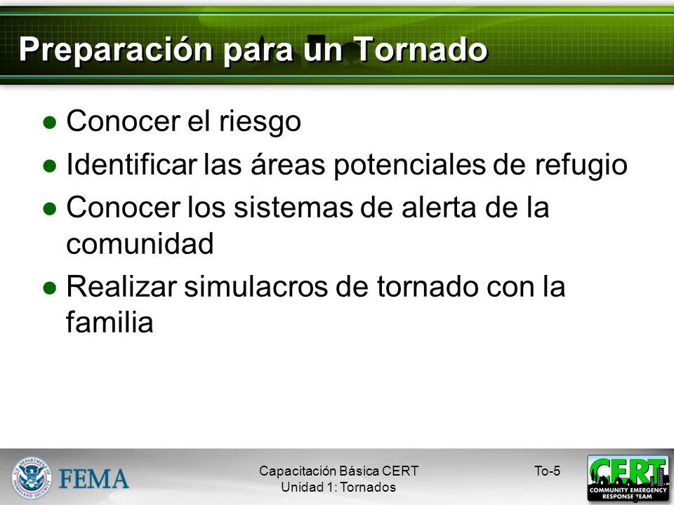 Preparación para un Tornado