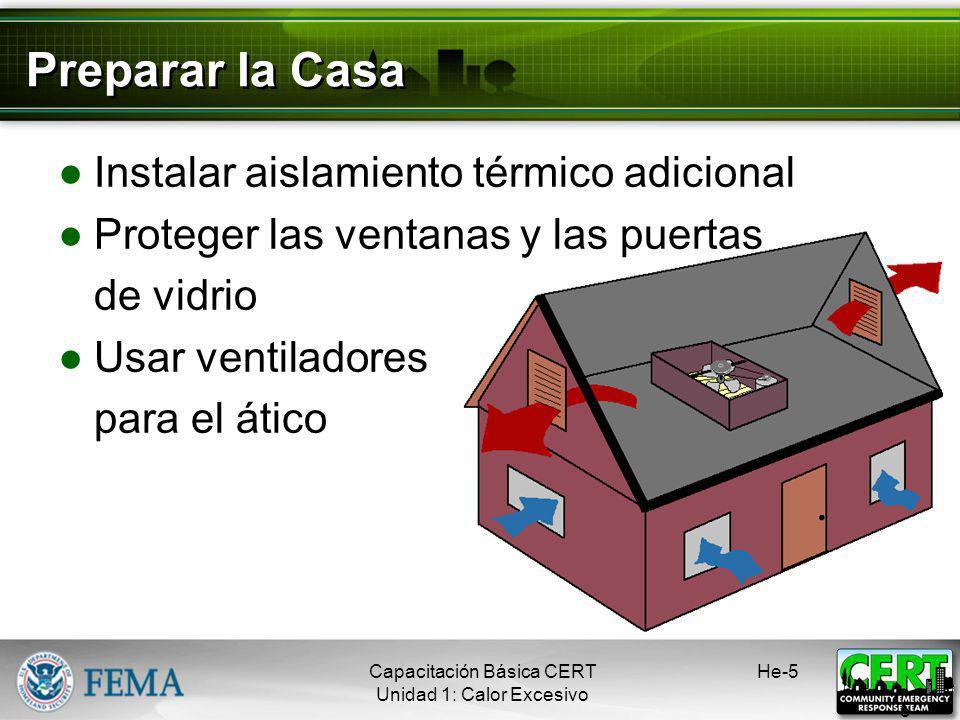 Preparar la Casa Instalar aislamiento térmico adicional