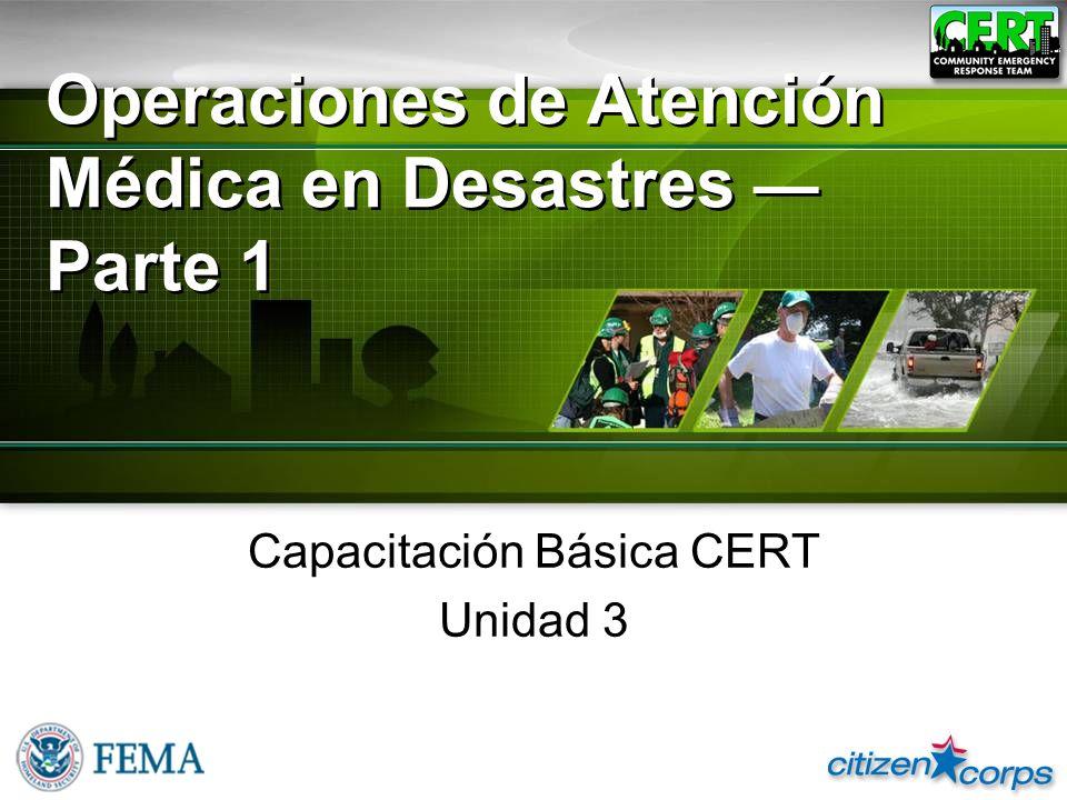 Operaciones de Atención Médica en Desastres — Parte 1