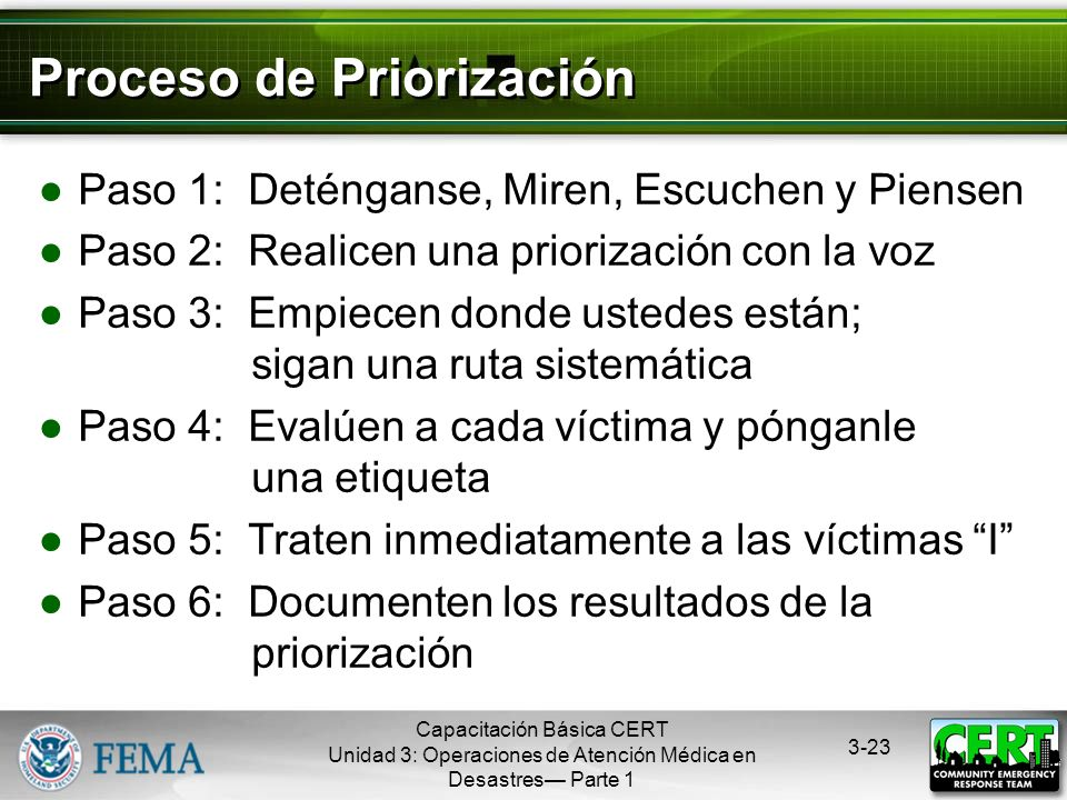 Proceso de Priorización