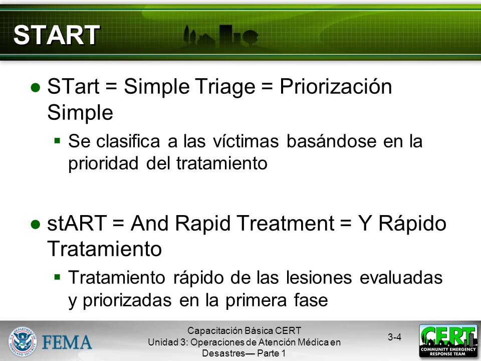 START STart = Simple Triage = Priorización Simple