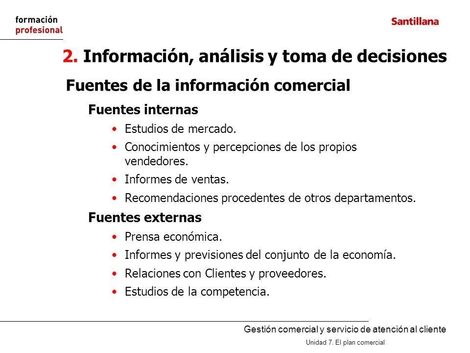 2. Información, análisis y toma de decisiones