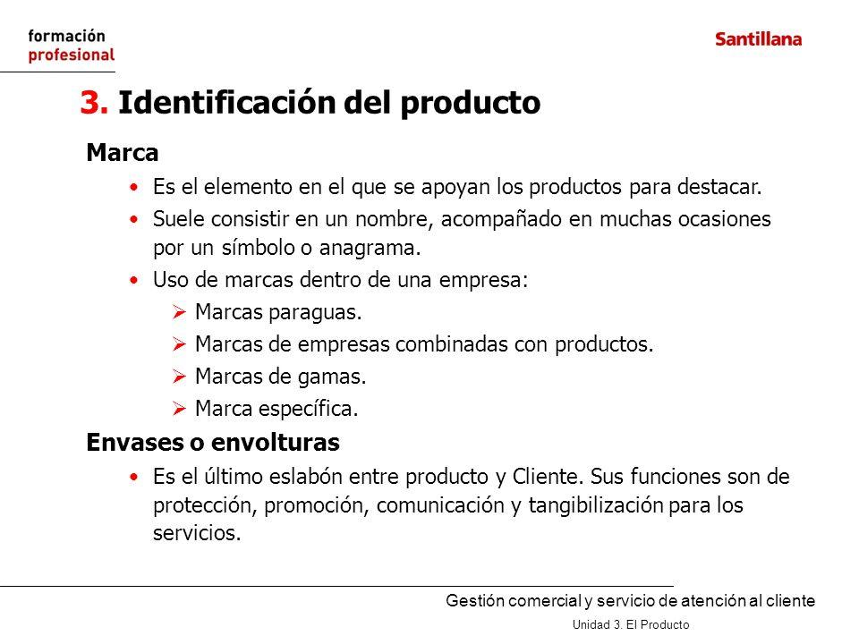 3. Identificación del producto