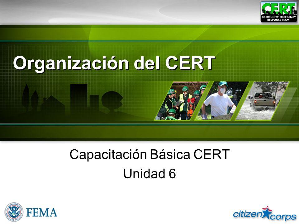 Capacitación Básica CERT Unidad 6
