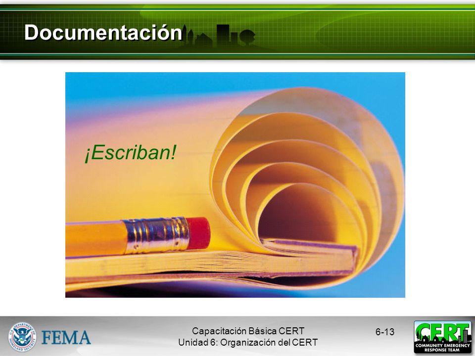 Documentación ¡Escriban! Capacitación Básica CERT