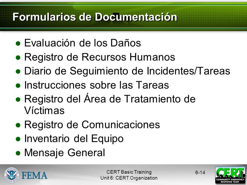 Formularios de Documentación