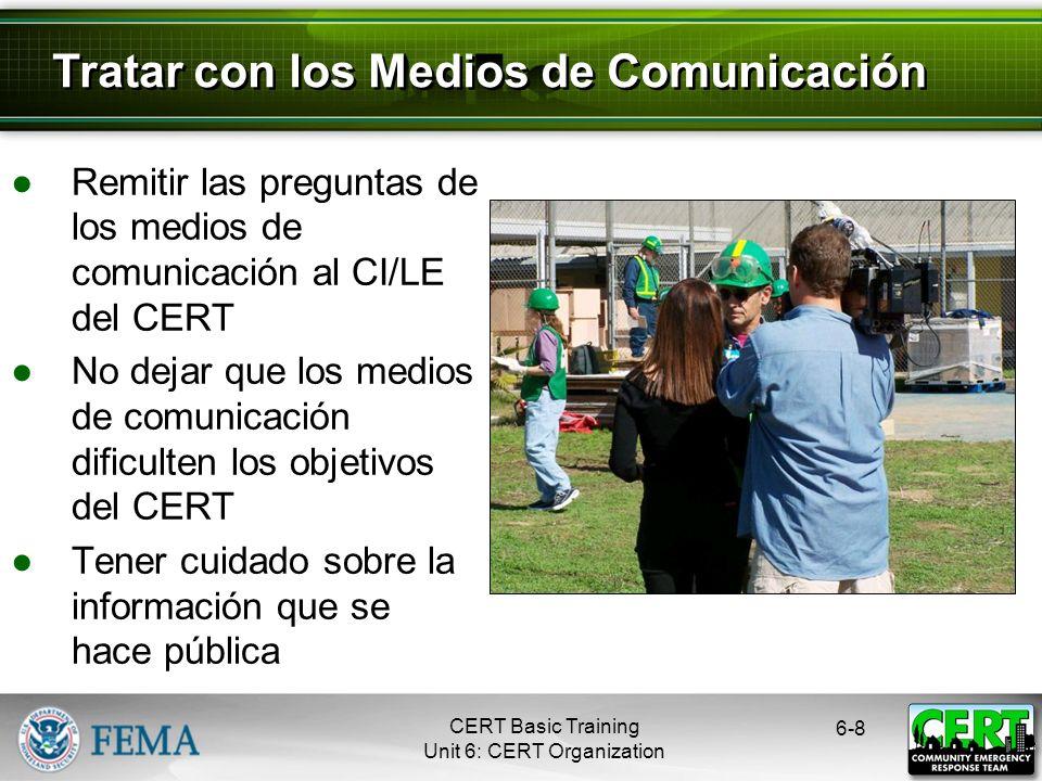 Tratar con los Medios de Comunicación