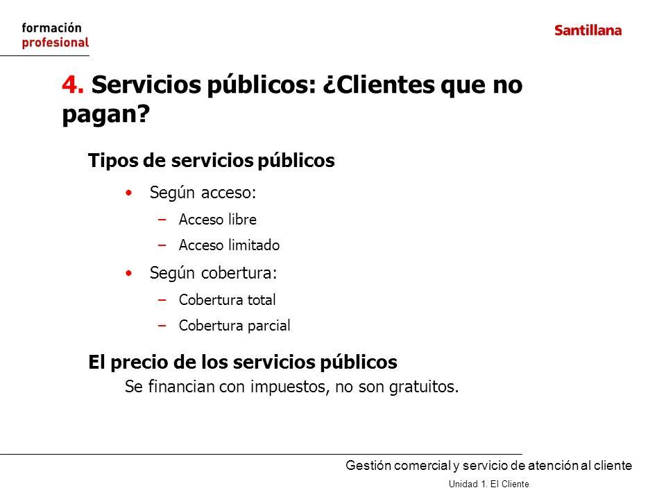 4. Servicios públicos: ¿Clientes que no pagan