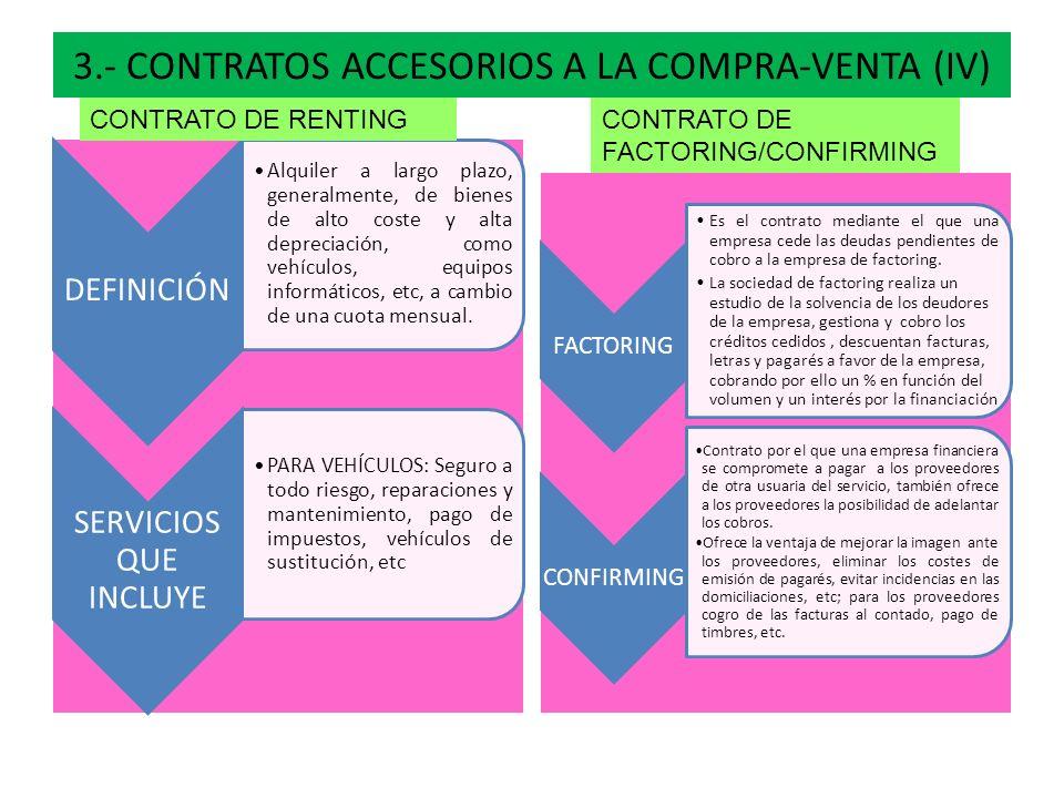 3.- CONTRATOS ACCESORIOS A LA COMPRA-VENTA (IV)