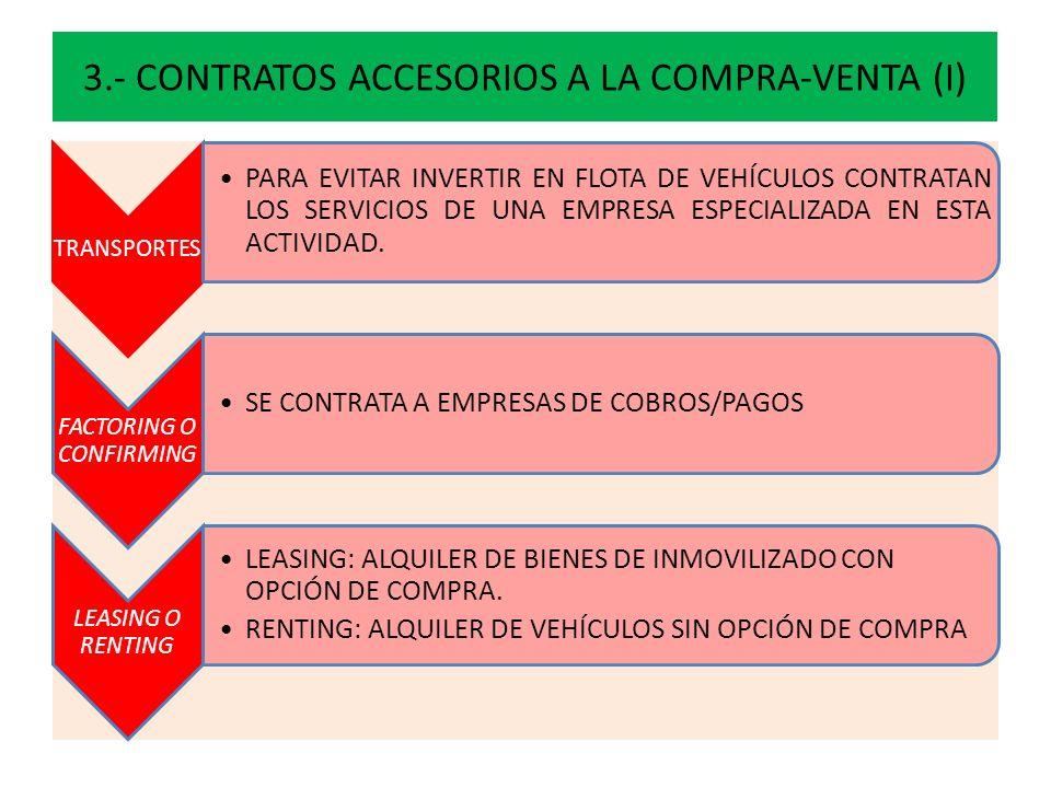 3.- CONTRATOS ACCESORIOS A LA COMPRA-VENTA (I)