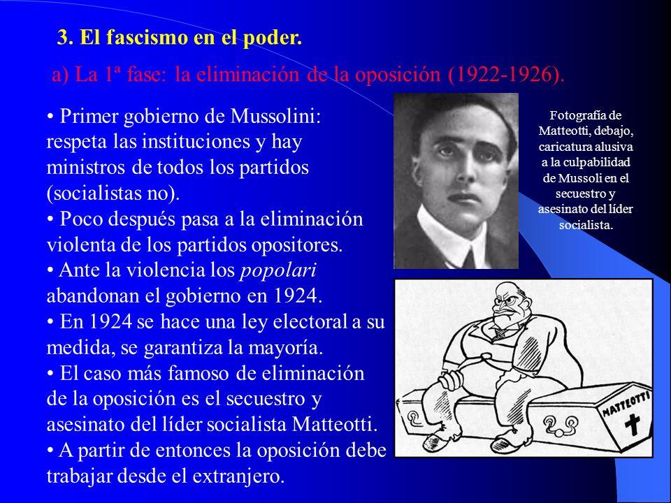 a) La 1ª fase: la eliminación de la oposición (1922-1926).