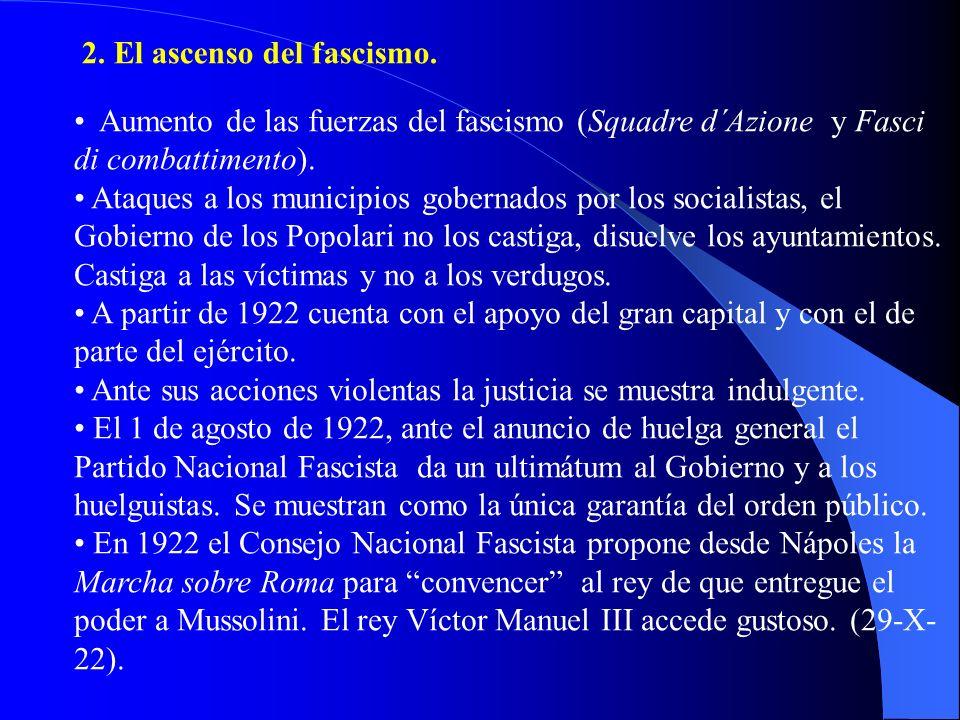 2. El ascenso del fascismo.