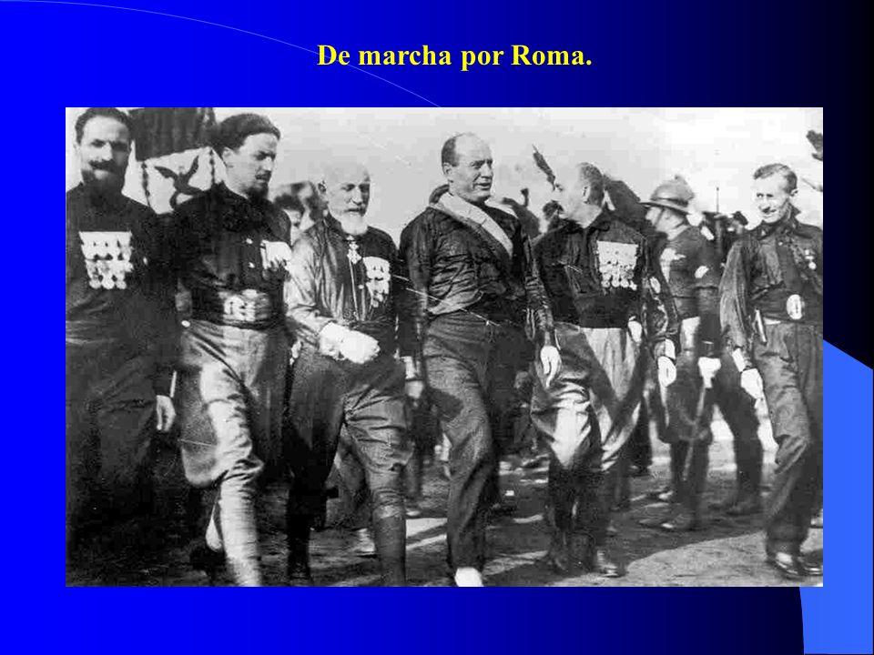 De marcha por Roma.