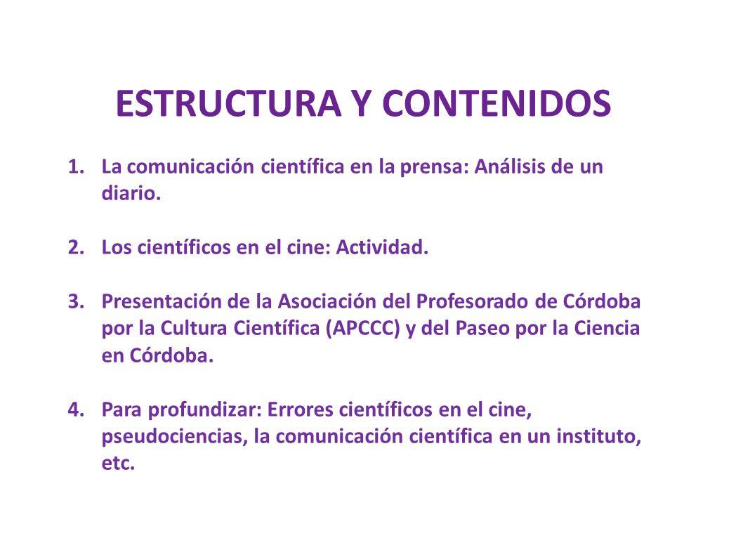 ESTRUCTURA Y CONTENIDOS