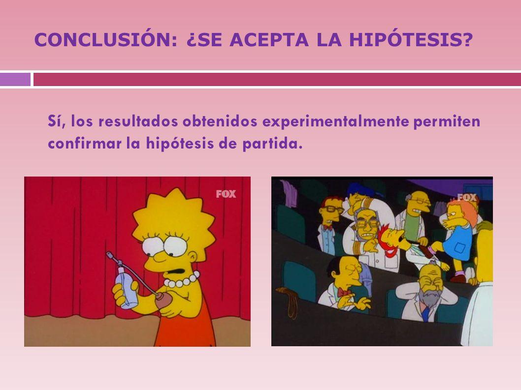 CONCLUSIÓN: ¿SE ACEPTA LA HIPÓTESIS
