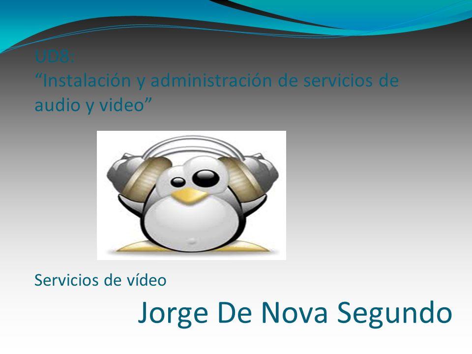 UD8: Instalación y administración de servicios de audio y video Servicios de vídeo