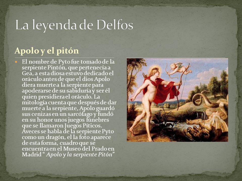 La leyenda de Delfos Apolo y el pitón