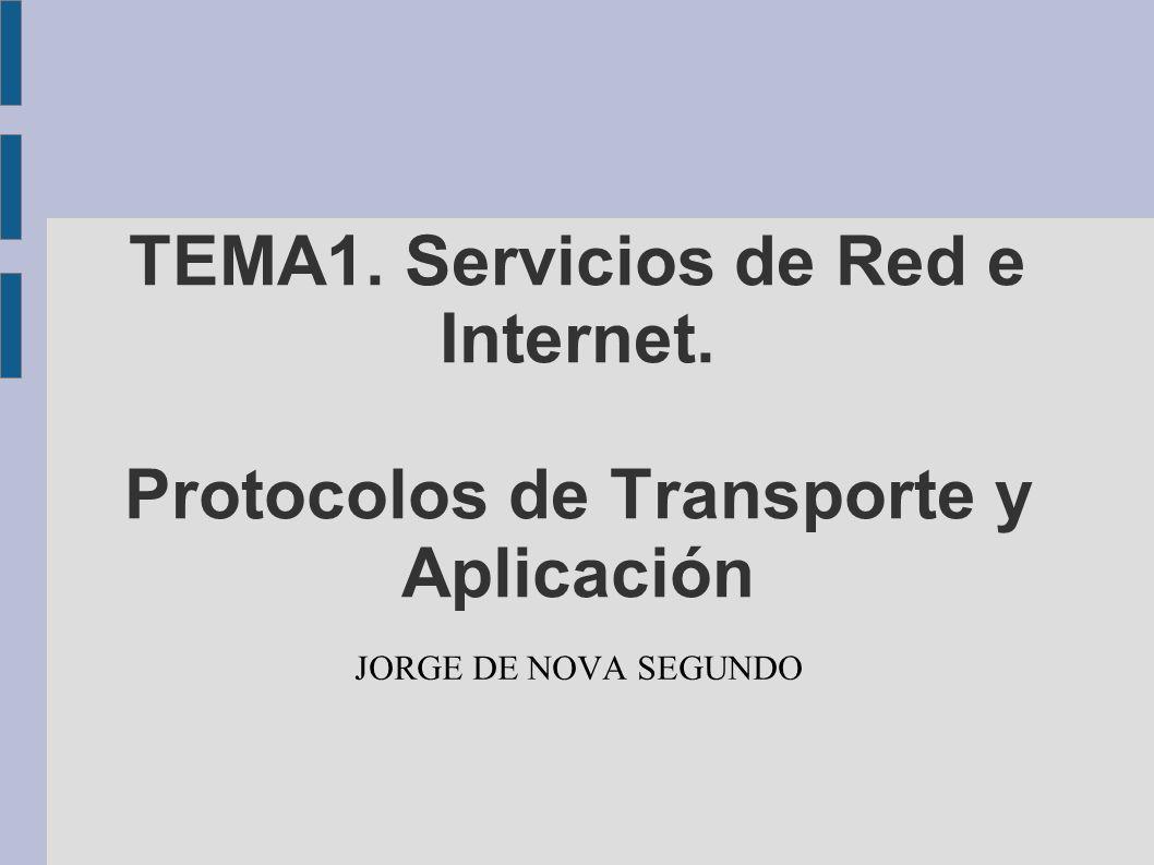 TEMA1. Servicios de Red e Internet