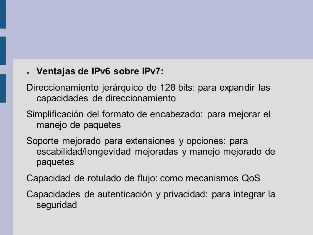 Ventajas de IPv6 sobre IPv7: