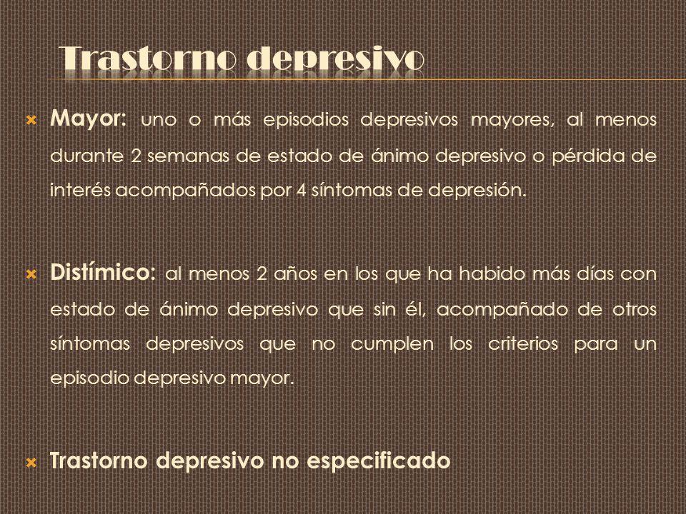 Trastorno depresivo