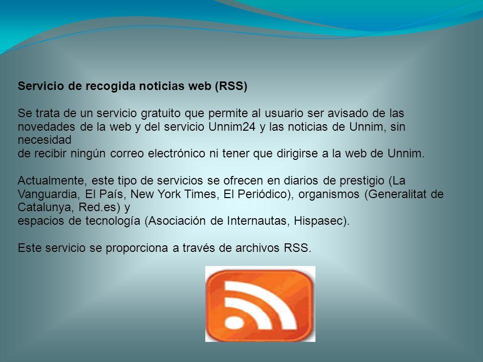 Servicio de recogida noticias web (RSS)