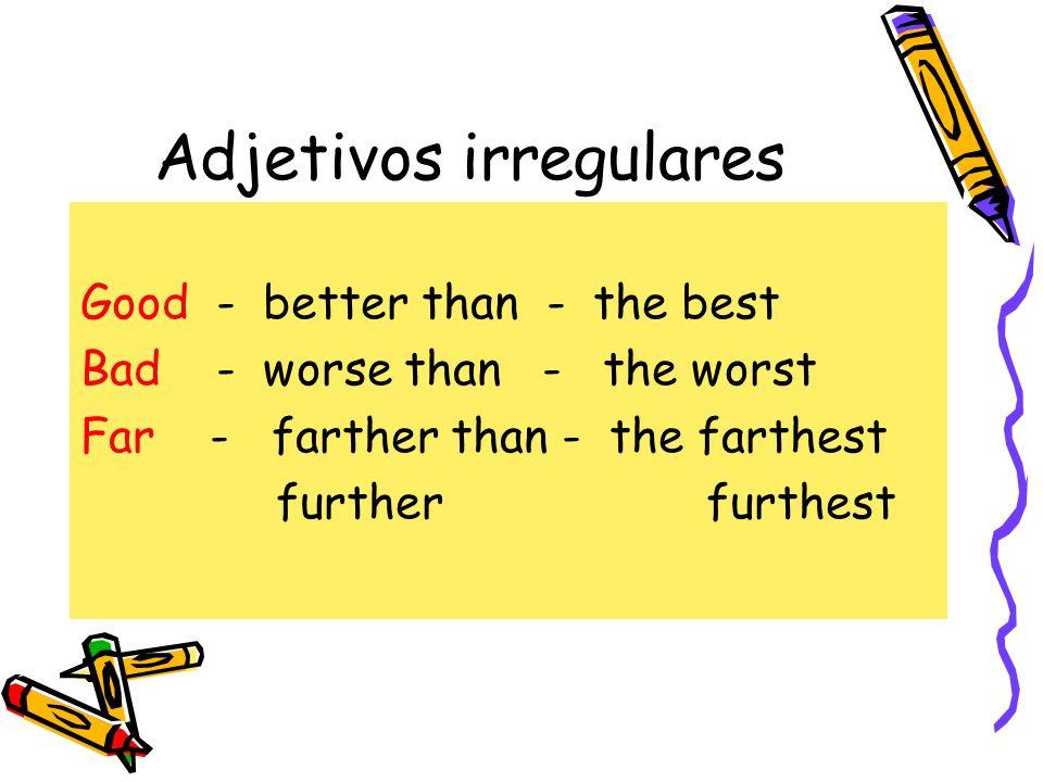 Adjetivos irregulares