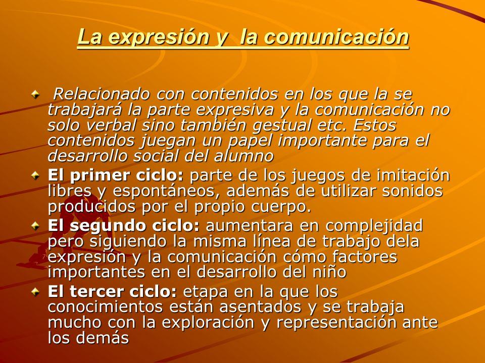 La expresión y la comunicación