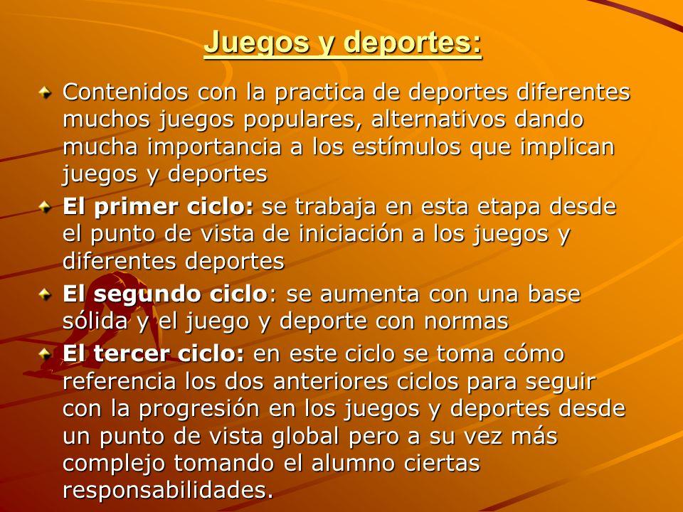 Juegos y deportes: