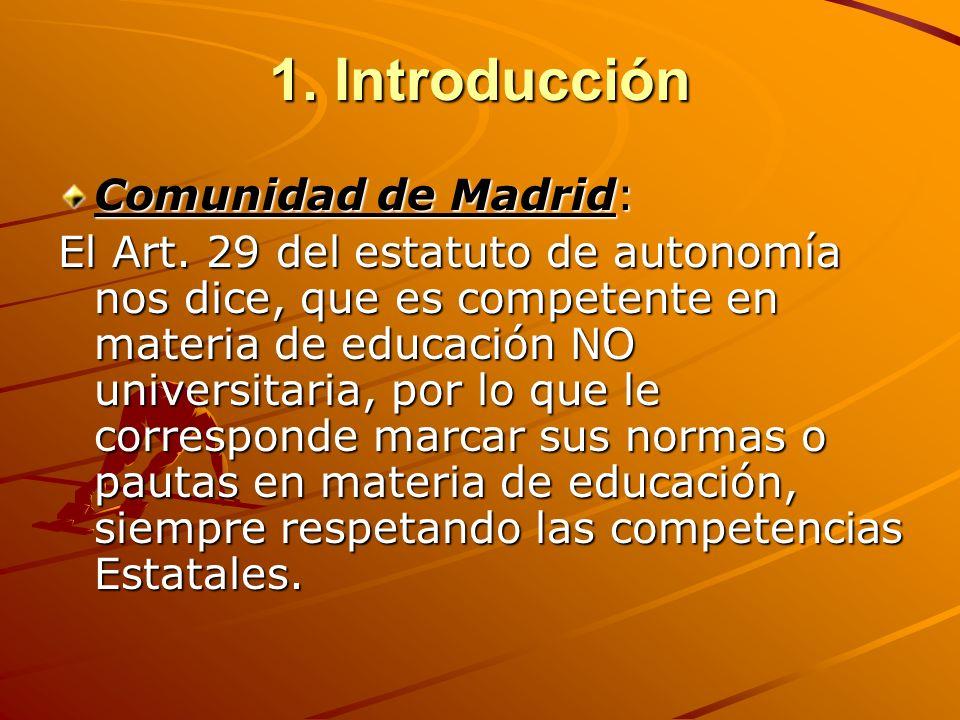 1. Introducción Comunidad de Madrid: