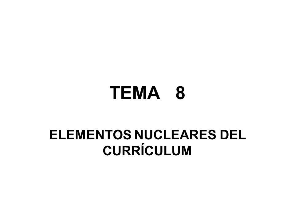 ELEMENTOS NUCLEARES DEL CURRÍCULUM