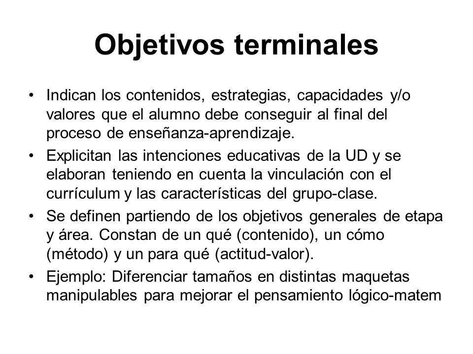 Objetivos terminales