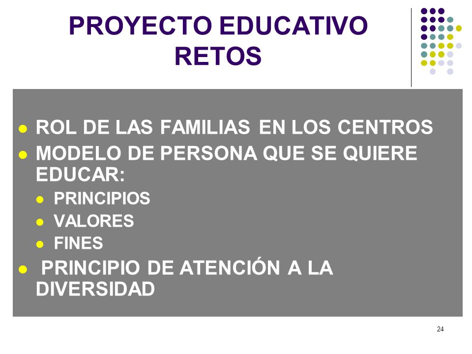PROYECTO EDUCATIVO RETOS