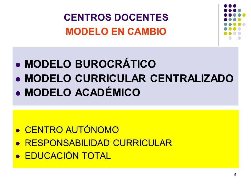 CENTROS DOCENTES MODELO EN CAMBIO