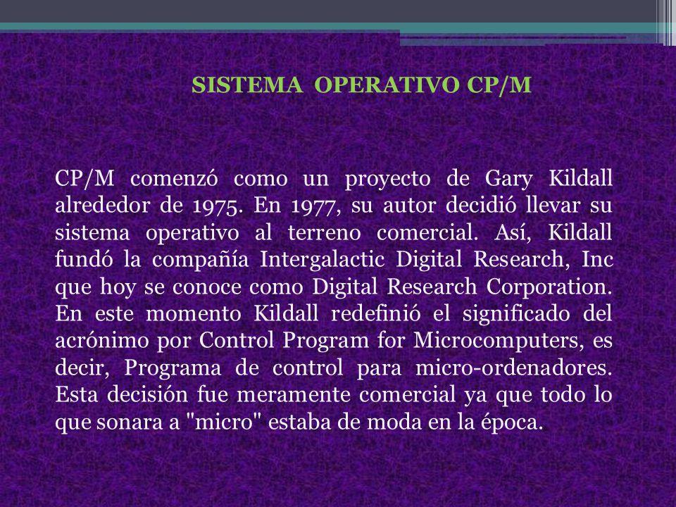 SISTEMA OPERATIVO CP/M