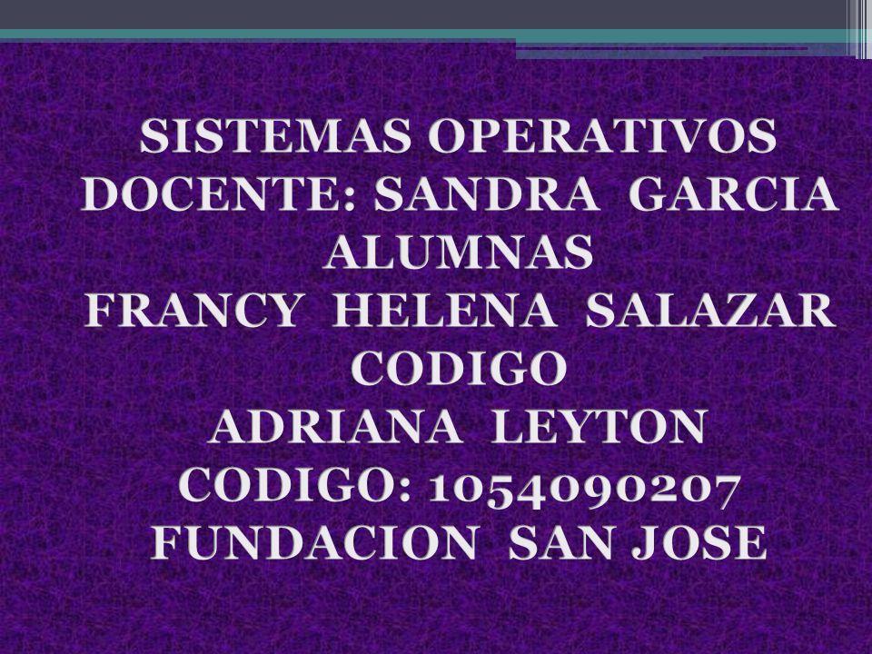 DOCENTE: SANDRA GARCIA