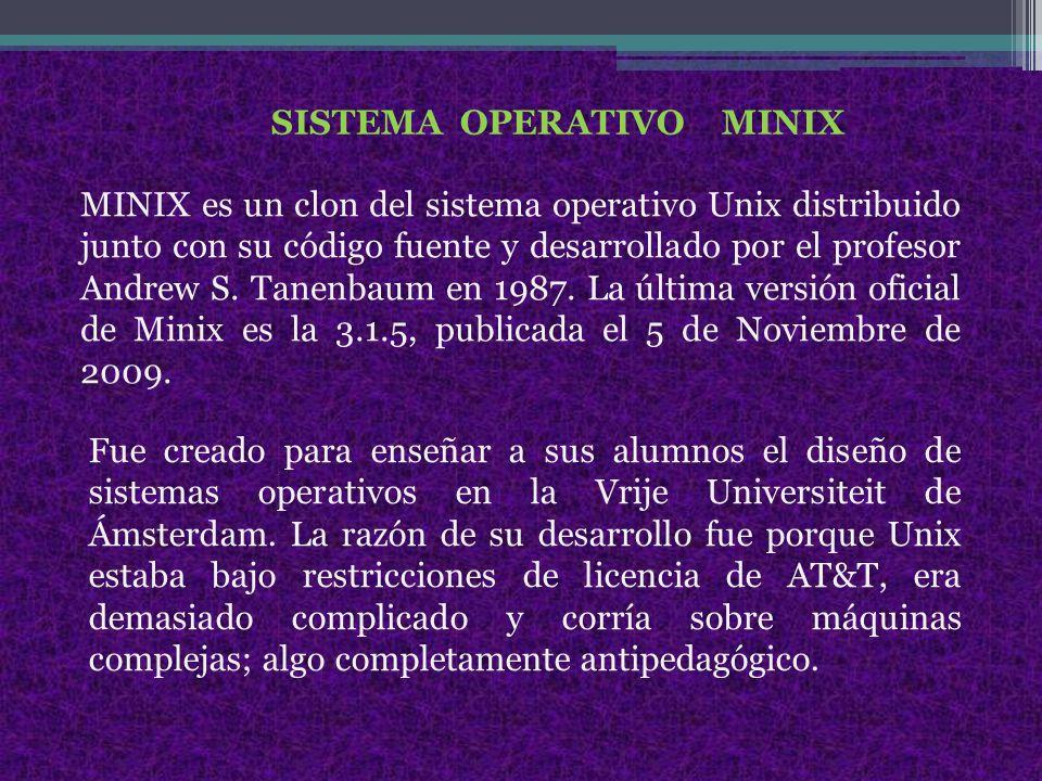 SISTEMA OPERATIVO MINIX