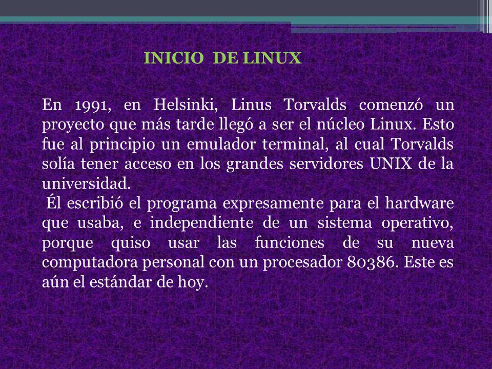 INICIO DE LINUX