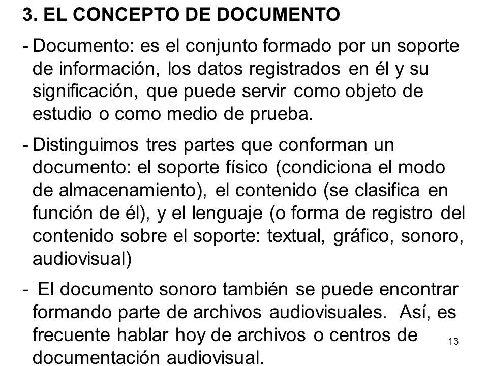 3. EL CONCEPTO DE DOCUMENTO