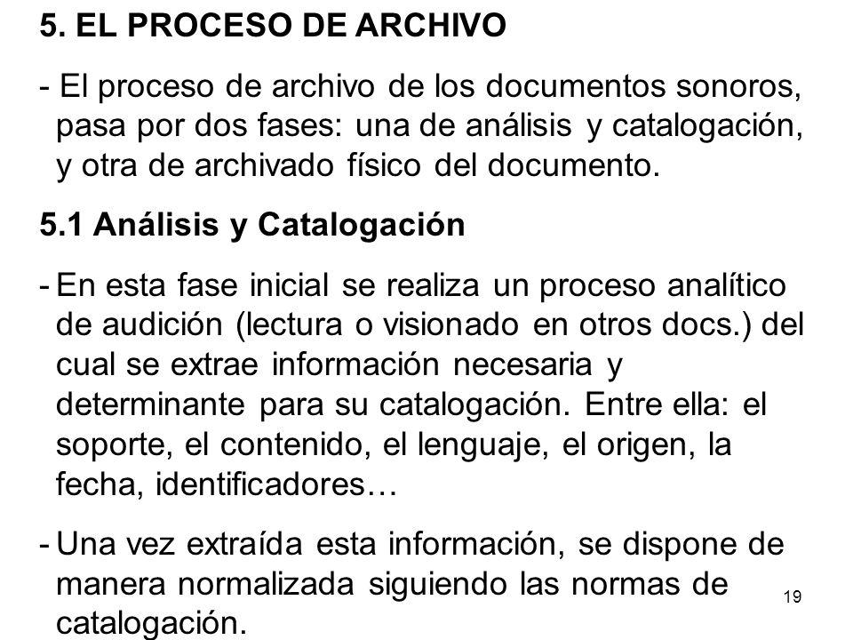 5. EL PROCESO DE ARCHIVO