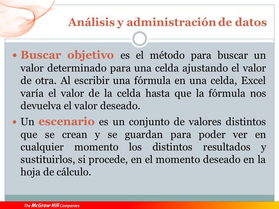 Análisis y administración de datos