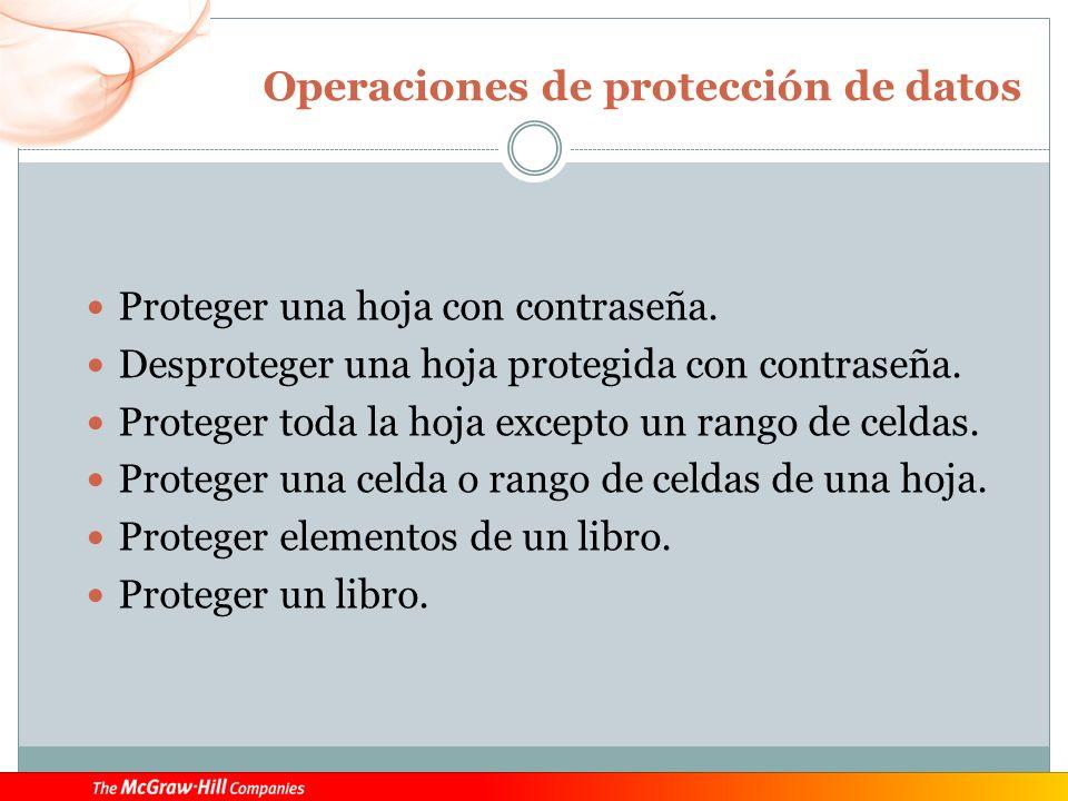 Operaciones de protección de datos