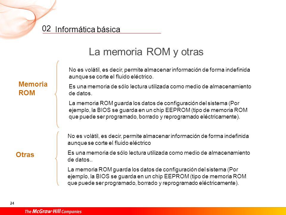 La memoria ROM y otras 02 Memoria ROM Otras