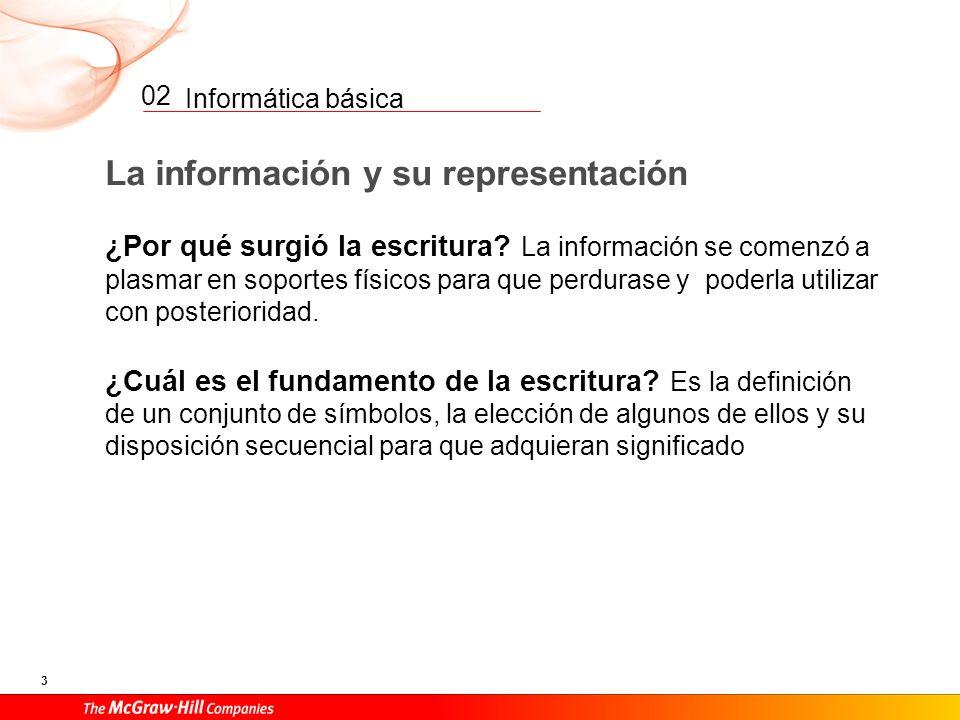 La información y su representación