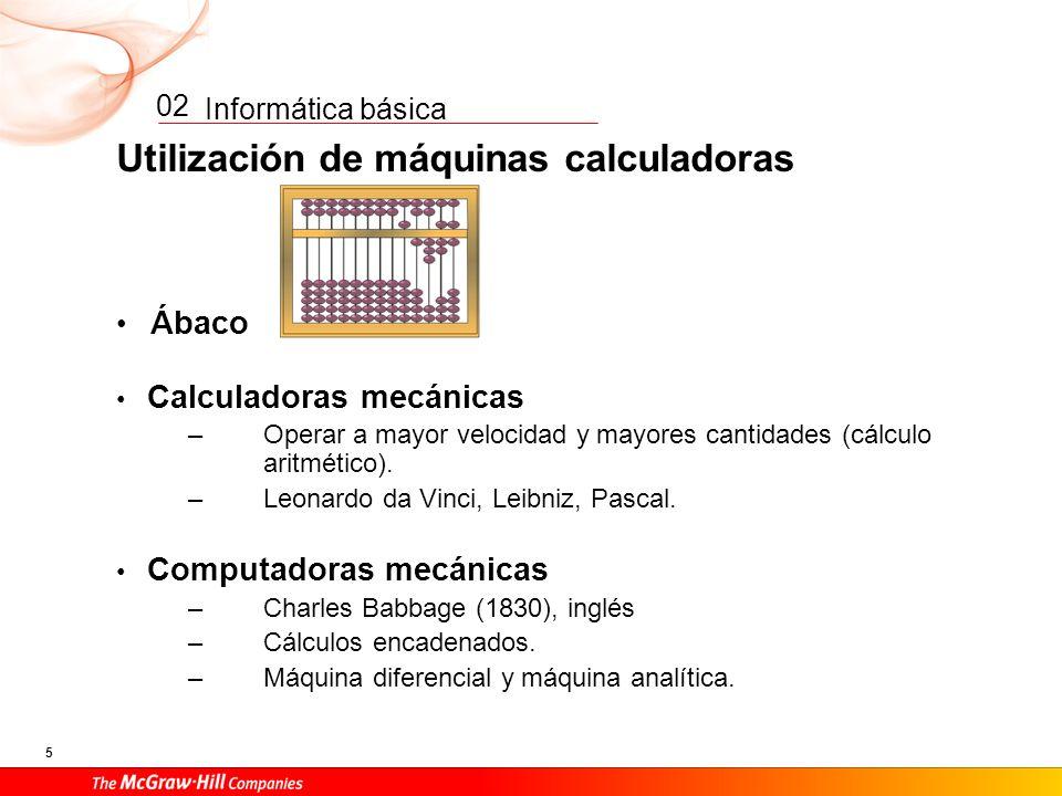 Utilización de máquinas calculadoras