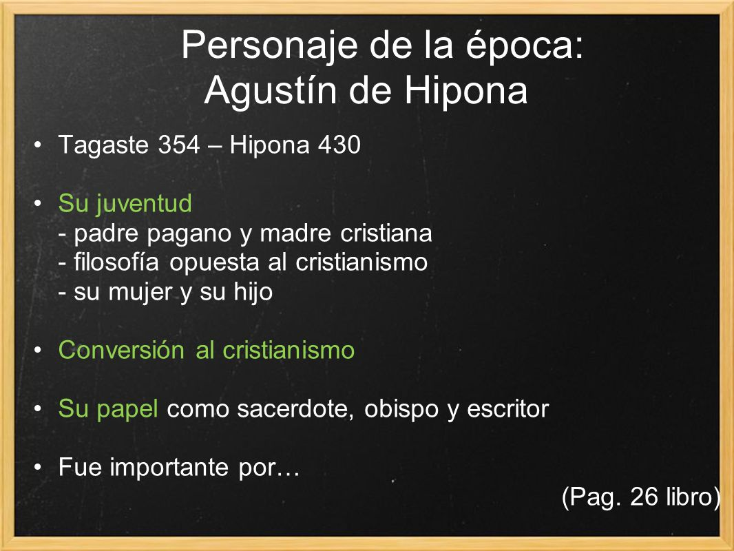 Personaje de la época: Agustín de Hipona