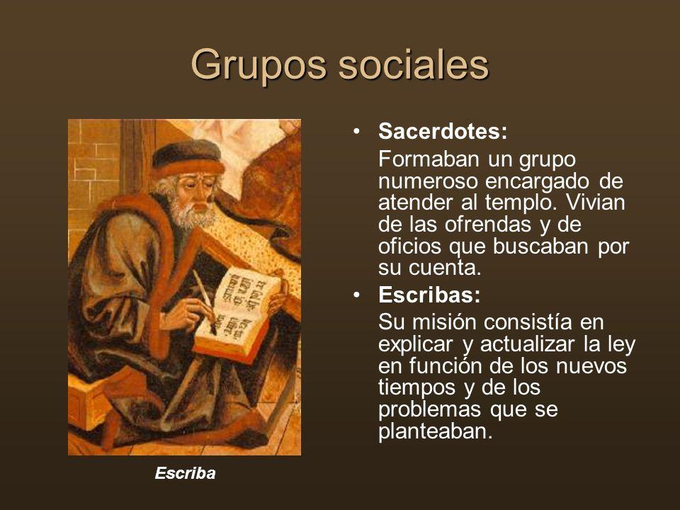 Grupos sociales Sacerdotes: