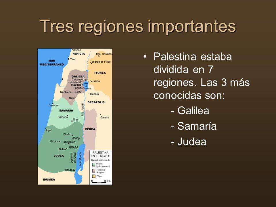 Tres regiones importantes